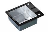 Стеклянная мойка ZorG Sanitary INOX GL-6051 BLACK