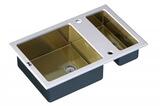 Стеклянная мойка ZorG Sanitary INOX GL-8051-2-WHITE-BRONZE