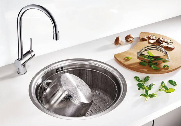 Кухонная мойка из нержавейки BLANCO RONDOSOL-IF