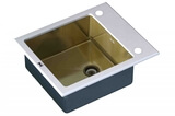 Стеклянная мойка ZorG Sanitary INOX GL-6051-WHITE-BRONZE