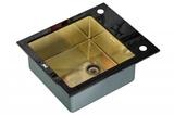 Стеклянная мойка ZorG Sanitary INOX GL-6051 BLACK-BRONZE