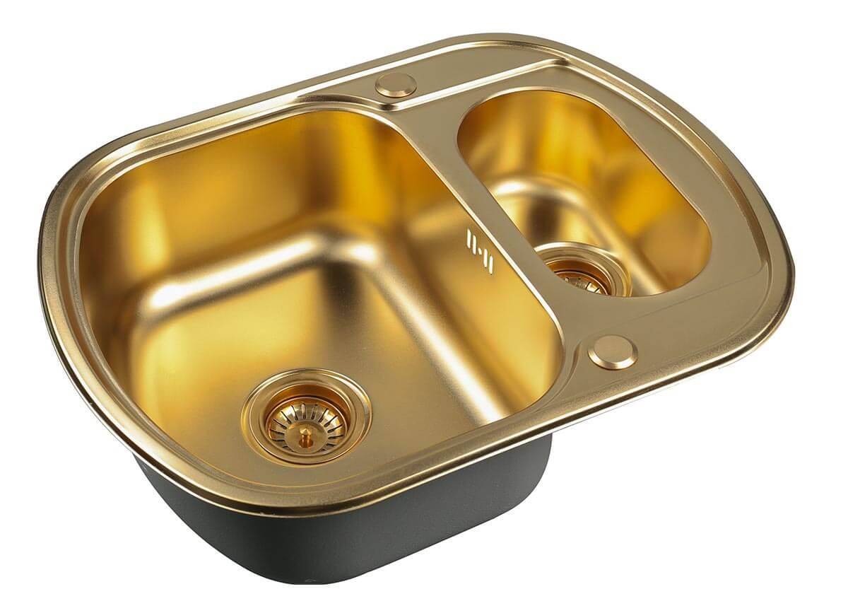 Кухонная мойка Zorg Inox Pvd SZR 62-2-49 BRONZE