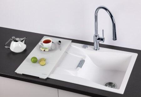 Кухонная мойка Schock Waterfall 45D в один уровень со столешницей