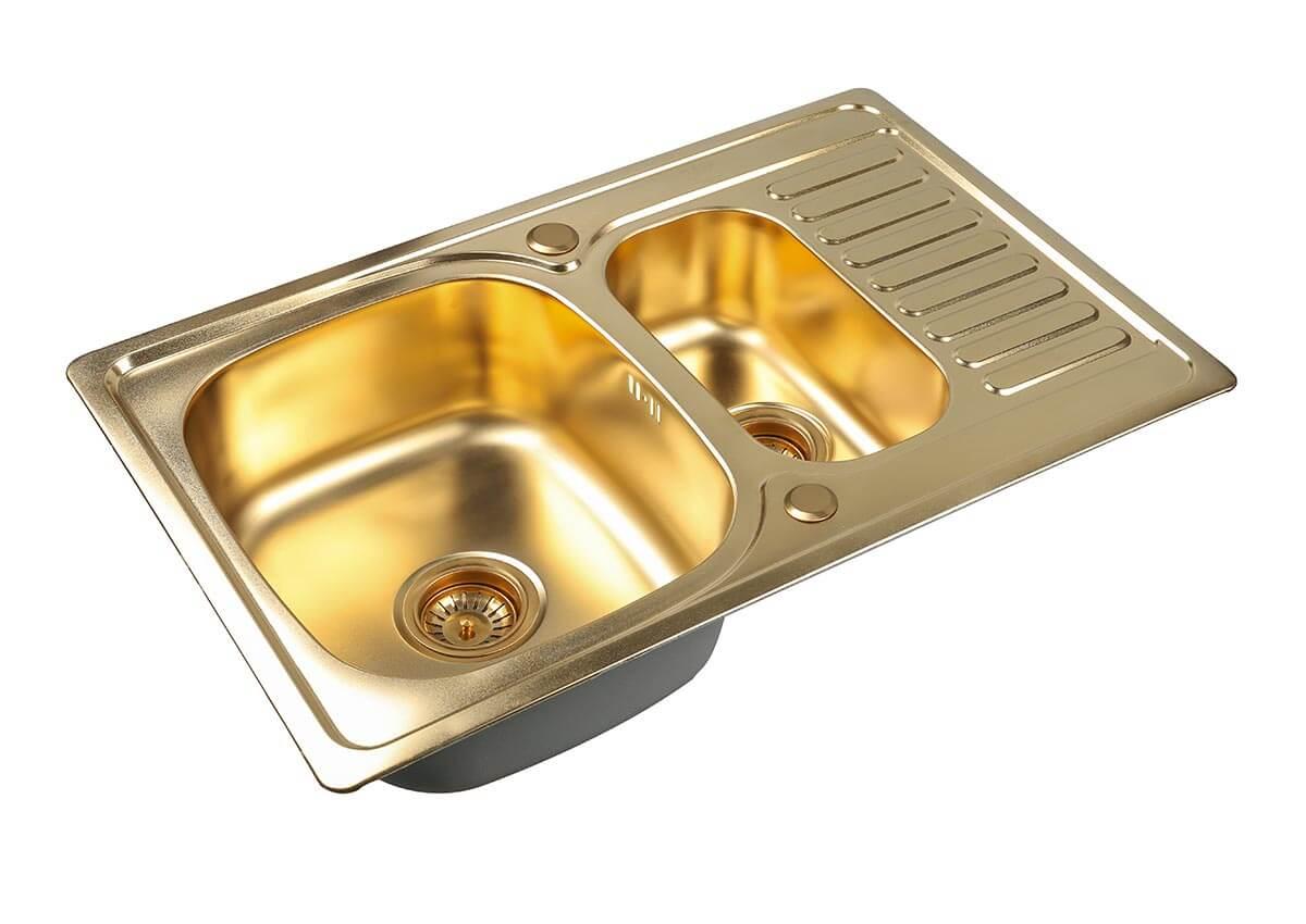 Кухонная мойки Zorg Inox Pvd SZR 78-2-50 BRONZE