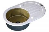 Стеклянная мойка ZorG Sanitary INOX GL-7851-OV-WHITE-BRONZE