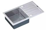 Стеклянная мойка ZorG Sanitary INOX GL-7851-WHITE