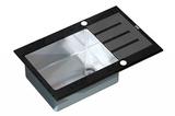 Стеклянная мойка ZorG Sanitary INOX GL-7851 BLACK