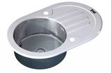 Стеклянная мойка ZorG Sanitary INOX GL-7851-OV-WHITE