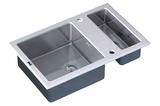 Стеклянная мойка ZorG Sanitary INOX GL-8051-2-WHITE