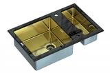 Стеклянная мойка ZorG Sanitary INOX GL-8051-2 BLACK-BRONZE