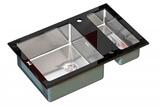 Стеклянная мойка ZorG Sanitary INOX GL-8051-2 BLACK