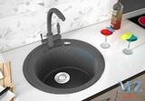 Кухонная мойка ZorG GraniT LAGO GZR-510 Черный металлик