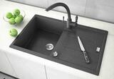 Кухонная мойка ZorG GraniT EXORO GZR-7850 Черный металлик