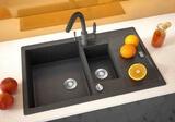 Кухонная мойка ZorG GraniT AMELIA GZR-78-2-50 Черный металлик