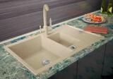 Кухонная мойка ZorG GraniT AMELIA GZR-78-2-50 Песочный