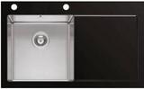 Мойка Imenza Charisma 86x53 1B 1D с черным стеклом