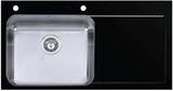 Мойка Imenza Adventure 86x53 1B 1D с черным стеклом