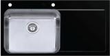 Мойка Imenza Adventure 100x53 1B 1D с черным стеклом