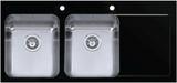 Мойка Imenza Adventure 116x52 2B 1D с черным стеклом