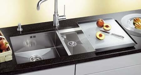 Кухонная мойка из нержавейки Blanco Zerox 400-550-T-U
