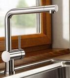 Смеситель для кухни Blanco Linus нержавеющая сталь
