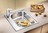 Кухонная мойка из нержавейки Blanco Livit 45