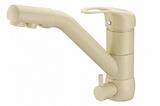 Комбинированный смеситель ZorG ZR 400 KF-12 жасмин CLEAN WATER
