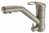Комбинированный смеситель ZorG ZR 400 KF-12 серый беж CLEAN WATER