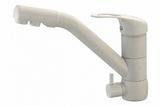 Комбинированный смеситель ZorG ZR 400 KF-12 серый шелк CLEAN WATER