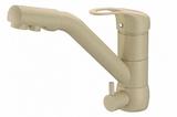 Комбинированный смеситель ZorG ZR 400 KF-12 шампань CLEAN WATER