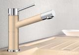 Смеситель для кухни Blanco ALTA Compact хром-гранит