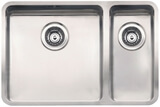 Кухонная мойка из нержавейки Reginox Ohio 40x40+18x40 L LUX