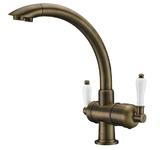 Комбинированный смеситель ZorG Sanitary ZR 327 YF ANTIQUE CLEAN WATER