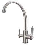 Комбинированный смеситель ZorG Sanitary ZR 330 YF-33 NICKEL CLEAN WATER