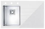 Мойка Alveus Crystalix 10 нержавейка с белым стеклом