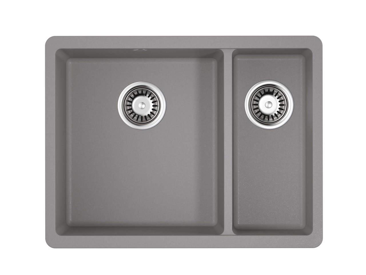 Кухонная мойка Omoikiri Kata 55-2-U-GR Leningrad Grey