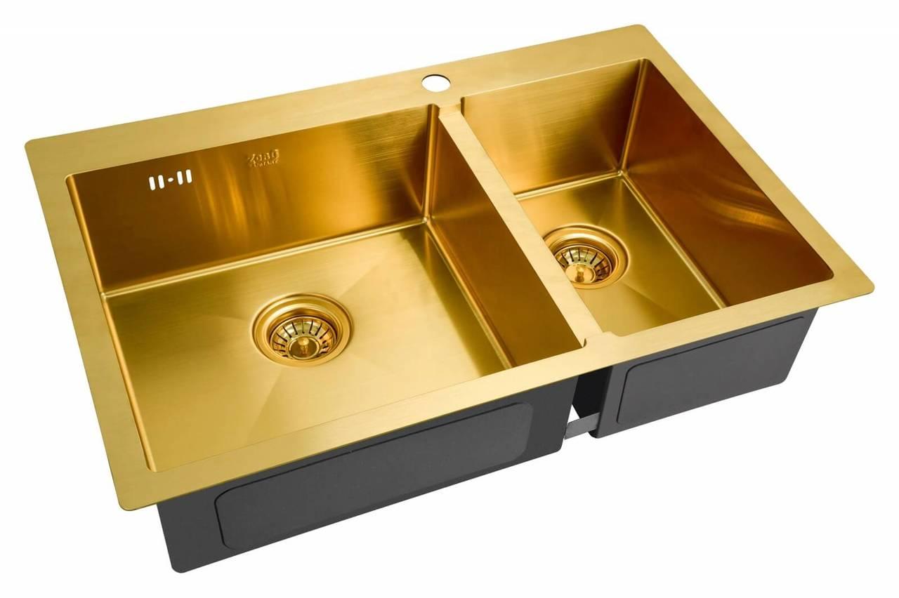 Кухонная мойка Zorg Inox Pvd SZR 78-2-51 L BRONZE