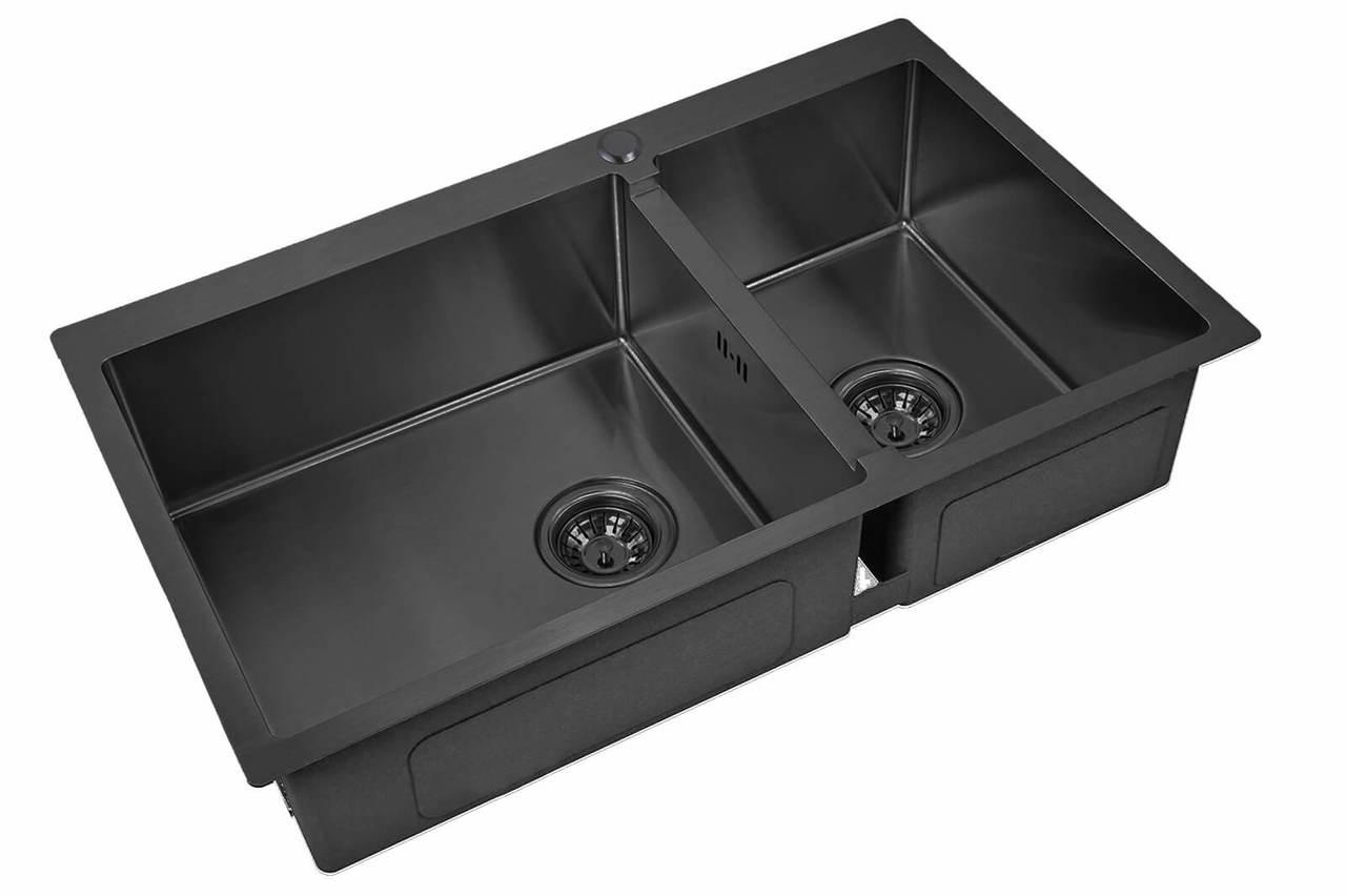 Кухонная мойка Zorg Inox Pvd SZR 78-2-51-L GRAFIT
