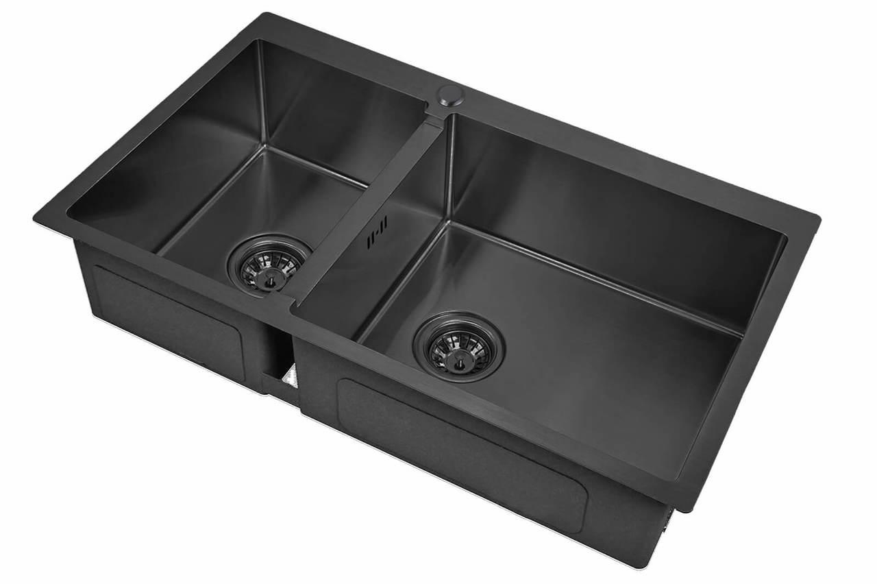 Кухонная мойка Zorg Inox Pvd SZR 78-2-51-R GRAFIT