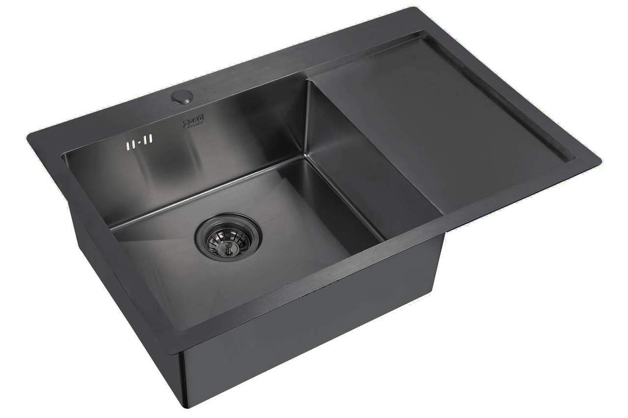 Кухонная мойка Zorg Inox Pvd SZR 7851-L GRAFIT