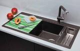 Кухонная мойка Schock Horizont 60D в один уровень со столешницей