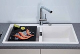 Кухонная мойка Schock Horizont 90 в один уровень со столешницей