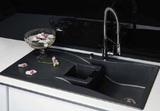 Кухонная мойка Schock Waterfall 60D в один уровень со столешницей