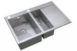 Кухонная мойка ZorG Sanitary INOX X-5178-2-L