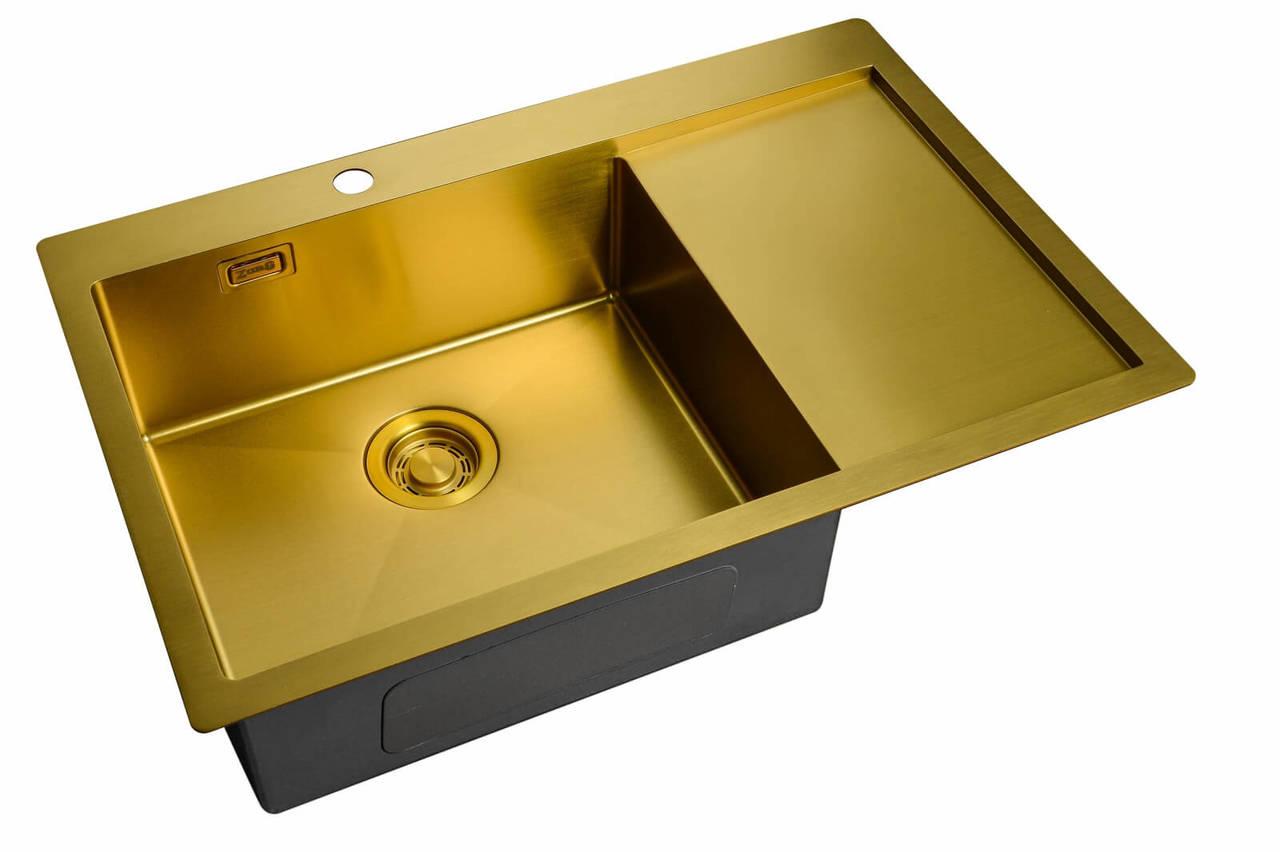 Кухонная мойка ZorG LIGHT ZL R 780510-L BRONZE