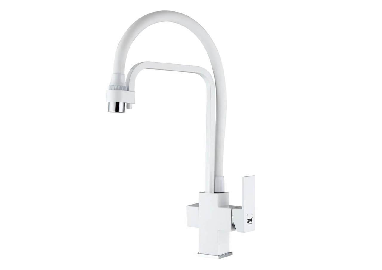 Смеситель Zorg ZR 341-8 YF WHITE для кухонной мойки