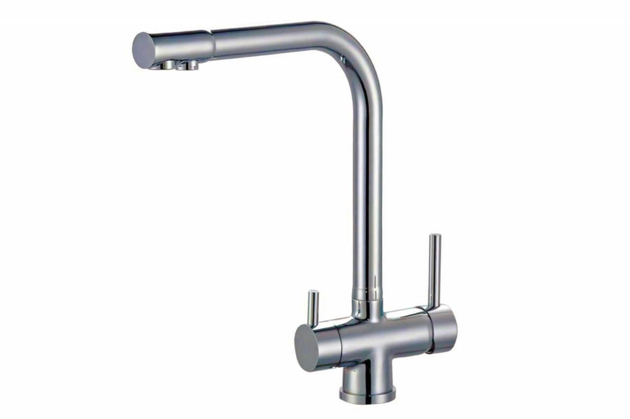 Смеситель Zorg ZR-348-YF Nickel для кухонной мойки